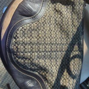 Black and Grey Authentic Coach Handbag